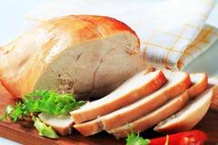 Pechuga de pavo de la carne asada imagen de archivo