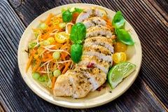 Pechuga de pollo asada Imagen de archivo