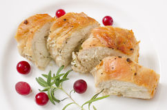 Pechuga de pollo cocida picante con romero imagen de archivo libre de regalías