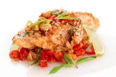 Pechuga de pollo cocinada en estilo asiático Fotos de archivo