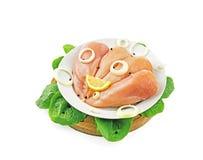 Pechugas de pollo enfriadas Imagen de archivo libre de regalías