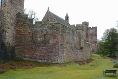 Peckforton castle. Cheshire, country house built in the style of a medieval castle Royalty Free Stock Image