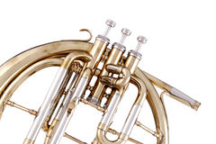 Peckhorn French Horn Isolated on White Royalty Free Stock Images