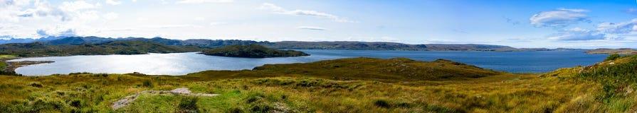 Pecora del lago ed isola della pecora in Wester Ross, Scozia Fotografie Stock