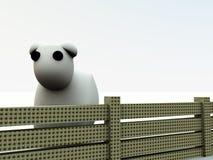 Pecore 4 del fumetto Immagini Stock