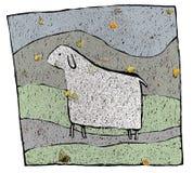 Pecore & fogli illustrazione vettoriale