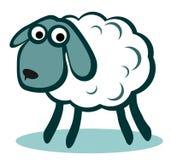 Pecore bianche del fumetto Immagine Stock Libera da Diritti