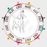 Pecore cinesi dello zodiaco illustrazione vettoriale
