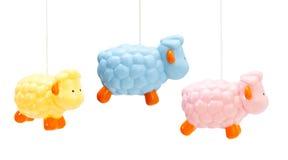 Pecore colorate per i neonati Fotografie Stock