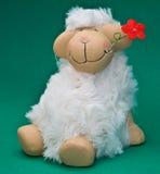 Pecore con il fiore Immagini Stock Libere da Diritti
