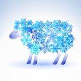 Pecore dai fiocchi di neve Immagini Stock