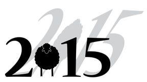 Pecore del buon anno 2015 Immagine Stock Libera da Diritti
