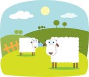 Pecore del fumetto Fotografie Stock