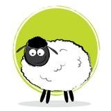 Pecore del fumetto dell'illustrazione Illustrazione Vettoriale