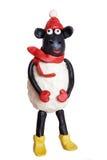 Pecore del Plasticine immagine stock