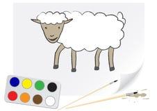 Pecore dell'illustrazione Immagini Stock Libere da Diritti