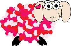 Pecore di amore Immagine Stock