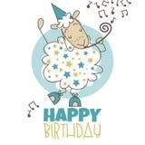 Pecore di buon compleanno Immagini Stock
