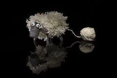 Pecore di lana fatte a mano Immagini Stock