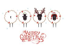 Pecore di Natale Fotografie Stock