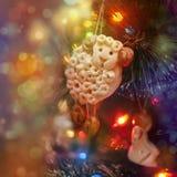 Pecore di Natale Fotografia Stock