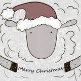 Pecore di Natale del fumetto Fotografia Stock Libera da Diritti