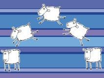 Pecore divertenti Immagini Stock