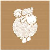 Pecore divertenti Immagine Stock