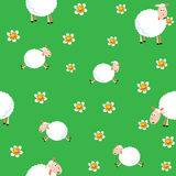 Pecore ed agnelli illustrazione vettoriale