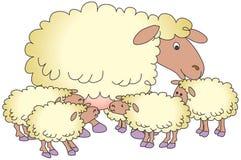 Pecore ed agnelli Royalty Illustrazione gratis