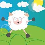 Pecore felici Fotografia Stock Libera da Diritti