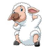 Pecore felici del fumetto illustrazione vettoriale