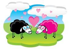 Pecore nell'amore Immagini Stock