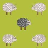Pecore nere illustrazione di stock