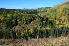 Pecore River Valley in autunno fotografia stock