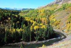 Pecore River Valley in autunno immagini stock