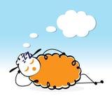 Pecore sonnolente Illustrazione Vettoriale