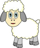 Pecore sveglie del fumetto Fotografie Stock Libere da Diritti