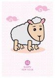 Pecore sveglie del fumetto per il nuovo anno cinese Fotografia Stock