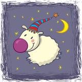 Pecore in un cappuccio Fotografia Stock