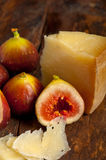 Pecorino cheese and fresh figs Royalty Free Stock Photography