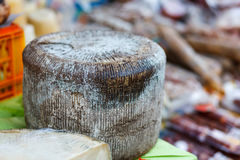 Pecorino cheese. Italian pecorino cheese on a  stand Royalty Free Stock Images
