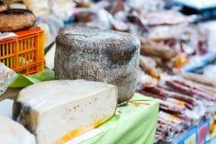 Pecorino cheese. Italian pecorino cheese on a  stand Stock Images