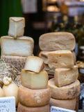 Pecorino Cheese in Market Royalty Free Stock Images