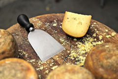 Pecorino cheese on small table. Stock Photography