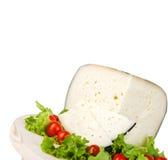Pecorino com tomates e salada Imagem de Stock