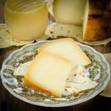 Pecorino of Sardegna. View of sardinian cheese, italian cuisine royalty free stock photo