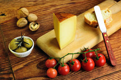 Pecorino toscano,意大利绵羊乳酪,特点托斯卡纳 免版税库存图片