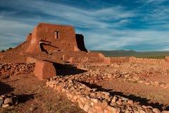 Pecos镇任务废墟 图库摄影