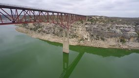 Pecos Bridge Flyover 4k stock video